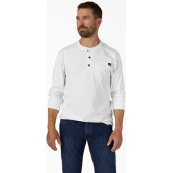 Dickies Men's Long Sleeve Heavyweight Henley Shirt - White Size 3 (WL451) found on Bargain Bro India from Dickies.com for $21.99