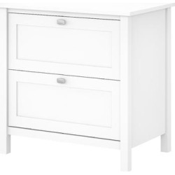 Bush Furniture Broadview 2 Drawer Lateral File Cabinet in Pure White - BDF131WH-03 found on Bargain Bro India from totally furniture for $202.59