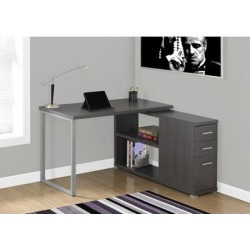 Grey Corner Computer Desk - Left or Right Facing - Monarch Specialties I-7135 found on Bargain Bro India from totally furniture for $203.49