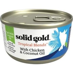 Solid Gold Tropical Blendz with Chicken & Coconut Oil Pate Grain-Free Canned Cat Food, 6-oz, case of 8 found on Bargain Bro India from Chewy.com for $15.12