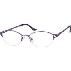 Zenni Women's Oval Prescription Glasses Half-Rim Purple Metal Frame found on Bargain Bro India from Zenni Optical for $19.00