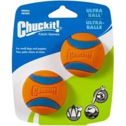 Chuckit! Ultra Rubber Ball Dog Toy, Small, 2 pack found on Bargain Bro Philippines from Chewy.com for $5.25