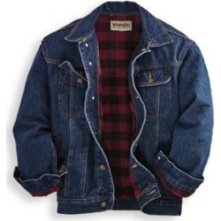 Men's Wrangler® Flannel-Lined Denim Jacket, Denim L found on Bargain Bro from Blair.com for USD $45.59