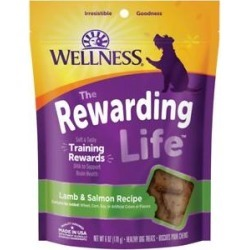 Wellness WellBites Lamb & Salmon Recipe Soft & Chewy Grain-Free Dog Treats, 6-oz bag