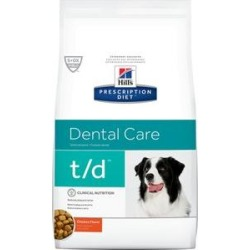 Hill's Prescription Diet t/d Dental Care Chicken Flavor Dry Dog Food, 5-lb bag found on Bargain Bro India from Chewy.com for $25.99