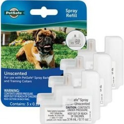 PetSafe Unscented Replacement Spray Cartridges for Anti-Bark & Training Dog Collar, 3 count