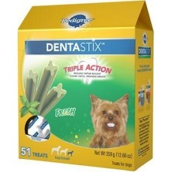 Pedigree Dentastix Mini Fresh Dog Treats, 51 count