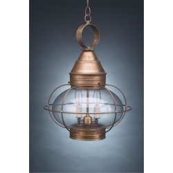 Northeast Lantern Onion 20 Inch Tall 1 Light Outdoor Hanging Lantern - 2572-AB-MED-OPT found on Bargain Bro Philippines from Capitol Lighting for $658.55