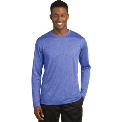 Sport-Tek ST360LS Long Sleeve Heather Contender Top in True Royal Blue size Large | Polyester found on Bargain Bro Philippines from ShirtSpace for $9.58