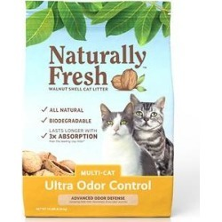 Naturally Fresh Walnut-Based Ultra Odor Control Multi-Cat Quick-Clumping Cat Litter, 14-lb bag found on Bargain Bro India from Chewy.com for $14.99