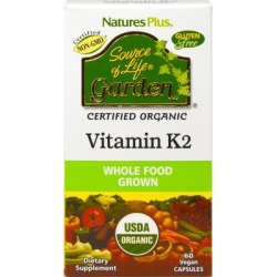 Nature's Plus Nature's Plus Source of Life Garden Vitamin K2 120 mcg-60 Capsules found on Bargain Bro India from Puritan's Pride for $14.99