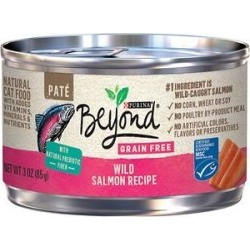 Purina Beyond Grain-Free Wild Salmon Pate Recipe Canned Cat Food, 3-oz, case of 12 found on Bargain Bro Philippines from Chewy.com for $8.53