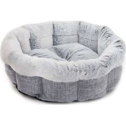 Best Pet Supplies Round Dog & Cat Bed, Light Gray, Large