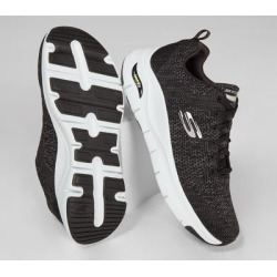 Skechers Men's Arch Fit - Paradyme Sneakers, Black/White, 10.0 found on Bargain Bro India from SKECHERS.com for $85.00