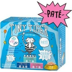 Tiny Tiger Pate Seafood Recipes Variety Pack Grain-Free Canned Cat Food, 3-oz, case of 24 found on Bargain Bro India from Chewy.com for $12.99