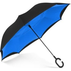 ShedRain Reversible Open Umbrella - Black/Ocean