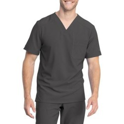 Dickies Men's Retro V-Neck Scrub Top - Pewter Gray Size XL XL (L10588) found on Bargain Bro India from Dickies.com for $29.99