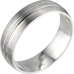 9ct White Gold 6mm Patterned Court Wedding Ring found on MODAPINS from Ernest Jones UK for USD $703.64