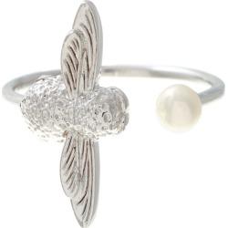 d53e38dc4 Olivia Burton Rhodium Plated Pearl Bee Ring found on Bargain Bro UK from Ernest  Jones UK