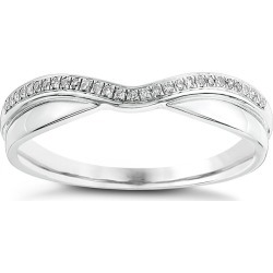 9ct White Gold, Diamond And Polished Shaped Wedding Ring found on MODAPINS from Ernest Jones UK for USD $352.53
