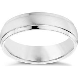 Men's Sterling Silver 5mm Matt & Polished Ring