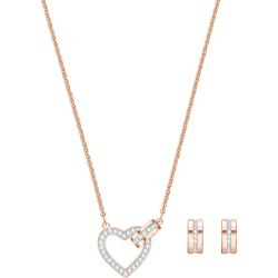 Swarovski Ladies' Rose Gold Plated Lovely Jewellery Set