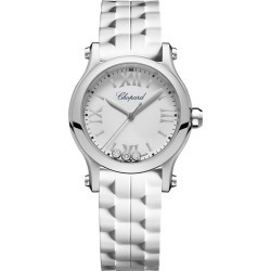 Chopard Happy Sport Ladies' White Rubber Strap Watch found on MODAPINS from Ernest Jones UK for USD $4537.43