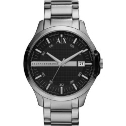 Armani Exchange Men's Dark Grey Stainless Steel Watch found on Bargain Bro UK from H Samuel