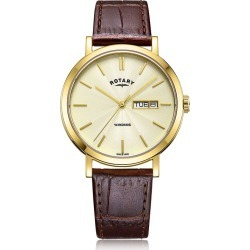 Rotary Exclusive Windsor Men's Brown Leather Strap Watch found on Bargain Bro UK from H Samuel