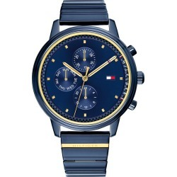 Tommy Hilfiger Ladies' Blue IP Bracelet Watch found on Bargain Bro UK from H Samuel