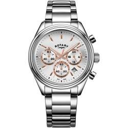 Rotary Men's Stainless Steel Chronograph Bracelet Watch found on Bargain Bro UK from H Samuel