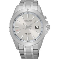 Seiko Men's Stainless Steel White Dial Watch found on Bargain Bro UK from H Samuel