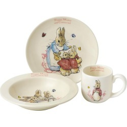 Peter Rabbit 3-Piece Ceramic Nursery Gift Set found on Bargain Bro UK from H Samuel