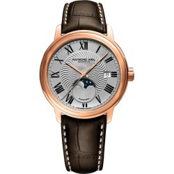 Raymond Weil Maestro Men's Brown Leather Strap Watch