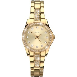 Sekonda Ladies' Starfall Gold Plated Stone Set Watch found on Bargain Bro UK from H Samuel