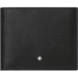 Montblanc Black Leather Six Card Slot Wallet