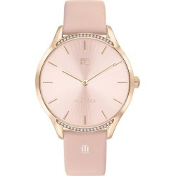 Tommy Hilfiger Rose Gold Plated Crystal Pink Leather Watch found on Bargain Bro UK from Ernest Jones UK