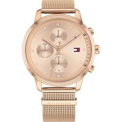 Tommy Hilfiger Ladies' Rose Gold IP Mesh Bracelet Watch found on Bargain Bro UK from H Samuel