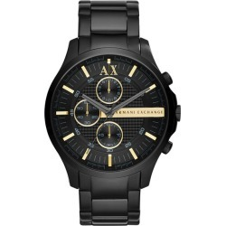 Armani Exchange Men's Black Ion Plated Chronograph Watch found on Bargain Bro UK from H Samuel