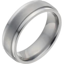 Men's Titanium Matt & Polished Ring
