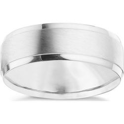 Palladium 950 7mm Matt & Polished Ring