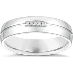 Silver Diamond Set Wedding Ring found on MODAPINS from H Samuel for USD $316.41