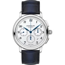 Montblanc Star Legacy Men's Blue Leather Strap Watch found on MODAPINS from Ernest Jones UK for USD $4341.22