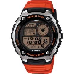 Casio Men's Black Dial Orange Resin Strap Watch found on Bargain Bro UK from H Samuel