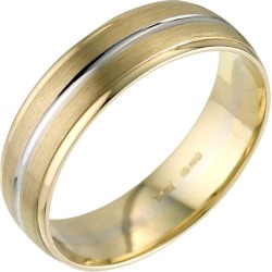 18ct Two Colour Gold Court Wedding Ring found on MODAPINS from Ernest Jones UK for USD $1064.60