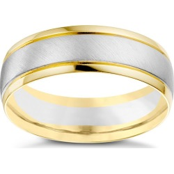 18ct white & yellow gold men's wedding ring found on MODAPINS from Ernest Jones UK for USD $1035.93