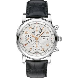 Montblanc Star Traditional Men's Black Leather Strap Watch found on MODAPINS from Ernest Jones UK for USD $3495.05