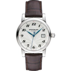 Montblanc Star Traditional men's brown leather strap watch found on MODAPINS from Ernest Jones UK for USD $2776.51