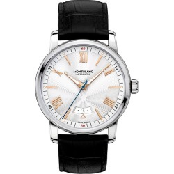 Montblanc 4810 Men's Black Leather Strap Watch found on MODAPINS from Ernest Jones UK for USD $3246.69