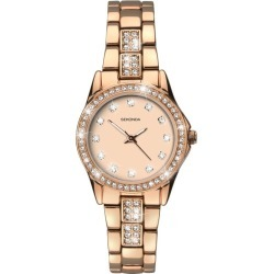 Sekonda Ladies' Stone Set Rose Gold-Plated Bracelet Watch found on Bargain Bro UK from H Samuel